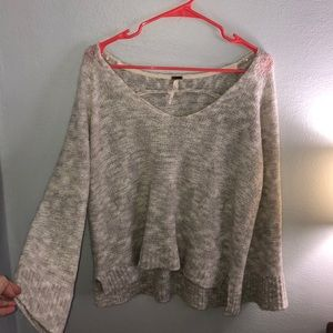 Free People Oversized V Neck Alpaca Blend Sweater